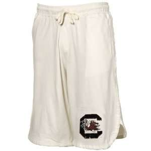 Izod South Carolina Gamecocks White Jersey Gym Shorts (X