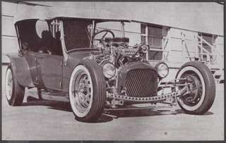 Car Exhibit Card Model T Ford Custom Hot Rod R641507