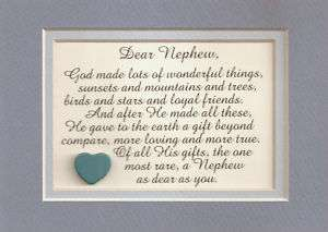 NEPHEW Family FRIENDS Loyal GOD MADE Love Special RARE verses poems