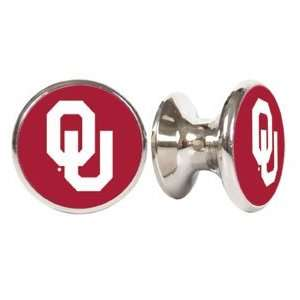 Oklahoma Sooners NCAA Stainless Steel Cabinet Knobs / Drawer Pulls (2