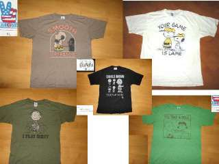 LOT of 5 SNOOPY CHARLIE BROWN JUNK FOOD t shirts XL