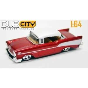 Jada Dub City Metallic Red 1957 Chevy Bel Air 164 Scale