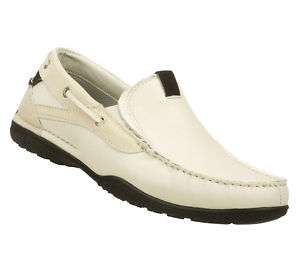 SKECHERS SHOE 62732 OFF WHITE MEN NEW BOAT CASUAL DRESS LOAFER SLIP ON