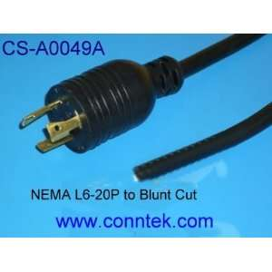 12FT Heavy duty power cord SJT 12/3 NEMA L6 20P to Blunt