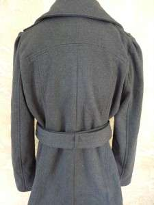 NEW KENNETH COLE REACTION WOMENS BELTED COAT LG GRAY