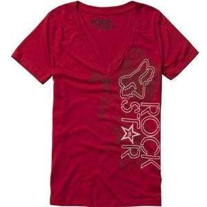 Fox Racing Womens Rockstar Showbox V Neck T Shirt   X