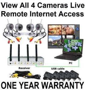 Network IR Wireless Security Kit Surveillance System Camera USB DVR