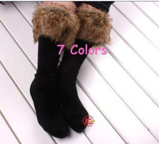 Pair Sexy Warm Cotton Boot Socks Fur Cover Half Long Stockings