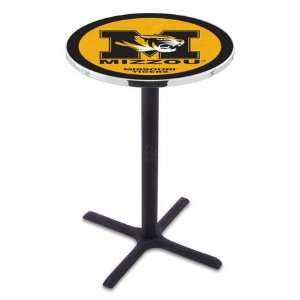 42 Mizzou Bar Height Pub Table   Cross Legs   NCAA