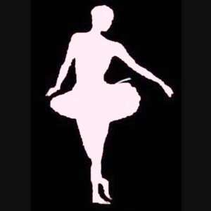 DANCING 5 White Vinyl STICKER / DECAL (Performing,Dance,Girls,Women