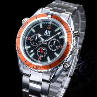 AK Homme Date Day Mens Automatic Mechanical Sailing Sports Wrist Watch