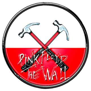 PINK FLOYD WALL HAMMERS PIN BADGE METAL ROGER WATERS