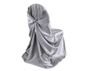 SATIN UNIVERSAL CHAIR COVERS wedding party favors wholesale   10