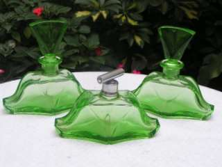 Beautiful Art Deco Czech Cut Glass Perfume Vanity Set