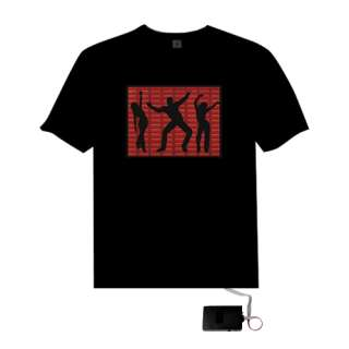 Sound Activated Disco dancing EL Equalizer LED T Shirt