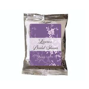 Baby Keepsake Lavender Floral Design Personalized Hot Cocoa Favors