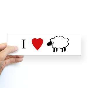 I Heart Sheep Love Bumper Sticker by  Arts