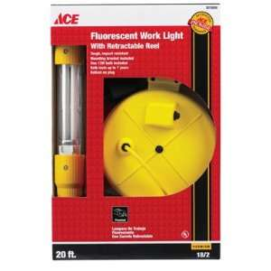 Ace Retractable Fluorescent Cord Reel Light