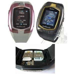 new Dual sim card duanl standby watch cell phone Electronics