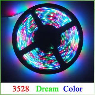 3528 Dream Color 5M SMD Flexible LED Strips+IR+Adapter