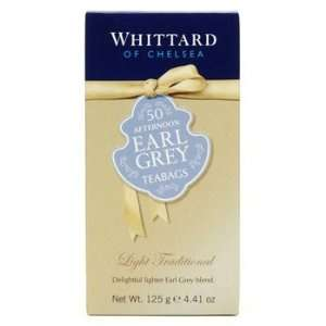 Whittard Black Tea Afternoon Earl Grey Tea / 50 Tea Bags / 150g / 5