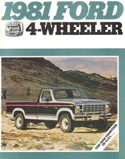 1981 Ford 4 Wheeler Truck Brochure Bronco F 150/250/350