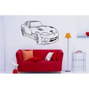 Wall MURAL Vinyl Decal Sticker Car Dodge Viper S. 612