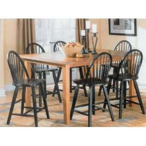Yuan Tai Tyson 6 Pc Pub Set Pub Table, 6 Pub Chairs