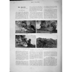 1892 Eruption Mount Etna Craters Lava Vineyard Mountain