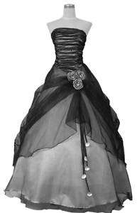 BB6 black prom evening wear ball robe dress gown size8 28 In Stock