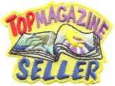 girl/boy TOP MAGAZINE SELLER Fun Patches GUIDES/SCOUTS