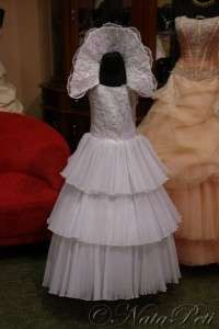 FLOWER GIRL PAGEANT PARTY HOLIDAY DRESS 884 WHITE SIZE 6 8