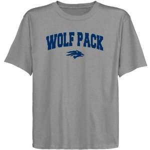 Nevada Wolf Pack Youth Ash Logo Arch T shirt Sports