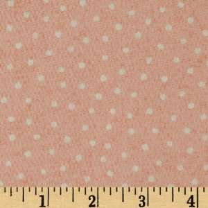 44 Wide Lets Be Friends Tiny Dots Pink Fabric By The