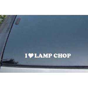 I Love Lamp Chop Vinyl Decal Stickers