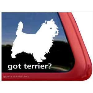 Terrier? ~ Cairn Terrier Vinyl Window Auto Decal Sticker Automotive