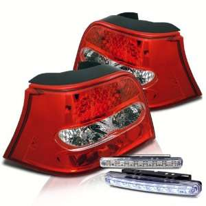 Eautolight 99 06 Vw Golf LED Tail Lights+led Bumper Fog