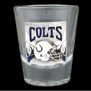 Indianapolis Colts   Round NFL Shot Glass Sports