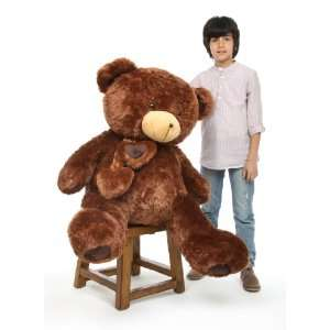 Lucky Hugs 45 Big Chestnut Brown Cuddly Love Teddy Bear