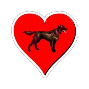 Irish Setter Love   Window Bumper Sticker