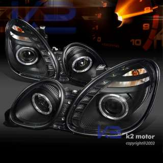 98 05 LEXUS GS300 GS400 JDM BLACK PROJECTOR HEADLIGHTS+SMD LED DRL