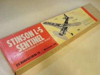 SIG STINSON L 5 SENTINEL MODEL AIRPLANE KIT ** 34 wingspan   KIT