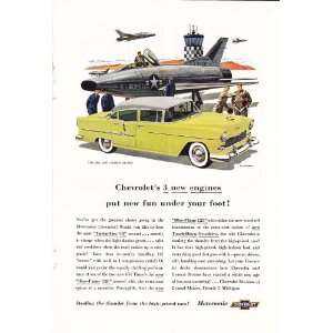 Bel Air 4dr Sedan Jet Fighter Original Car Print Ad
