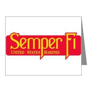 Note Cards (20 Pack) Semper Fi Marine Corps Everything