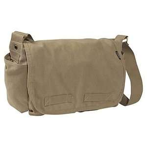 NEW Everest Large Cotton Messenger Bag   Khaki