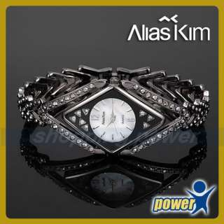 Alias Kim★ Black Elegant Rhombic Ladies Bracelet Watch