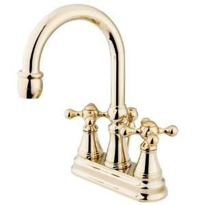 Governor 4Center Set Lavatory Faucet W/Brass pop up Polish