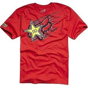 Fox Racing Rockstar Zoom T Shirt   2X Large/Red
