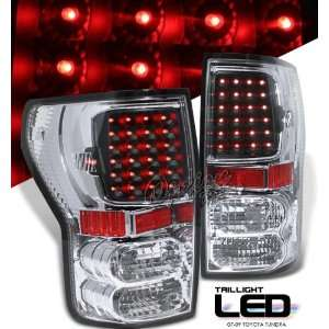 07 10 Toyota Tundra LED Tail Lights   Chrome Black