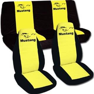 Rear seat cover for a 1990 Mustang GT. Black and Yellow seat cover.